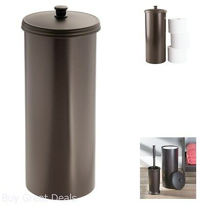 Toilet paper roll tissue holder reserve canister bathroom storage organizer easy picclick - Toilet roll canister ...