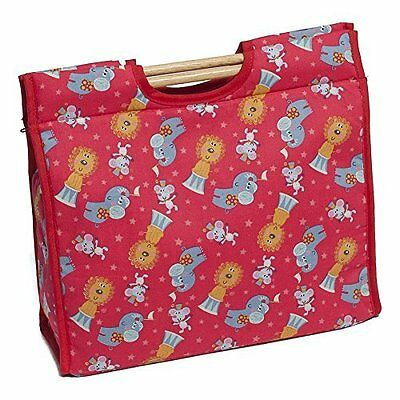 Hobby Gift  Circus Animals on Red Craft/Sewing Storage Bag