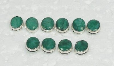 Wholesale 5Pair 925 Solid Sterling Silver Natural Green Emerald Stud Earring Lot