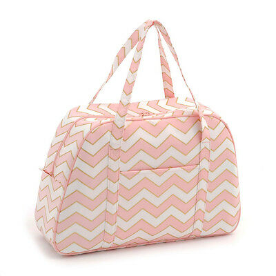 Classic Collection: Sewing Machine Bag: Chevron - Pearlised Blush