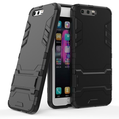 Huawei Honor 9 - Slim Tough Shock Proof Builder Phone Case Cover Stand