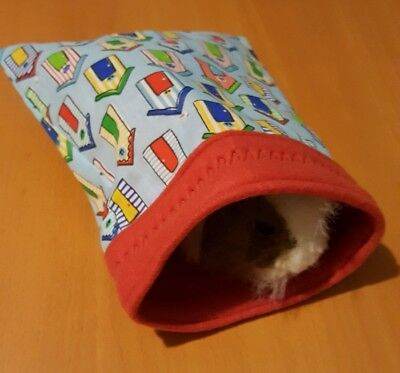 Guinea pig / gerbil / small pet snuggle sack/ pouch/ bed  cotton/fleece