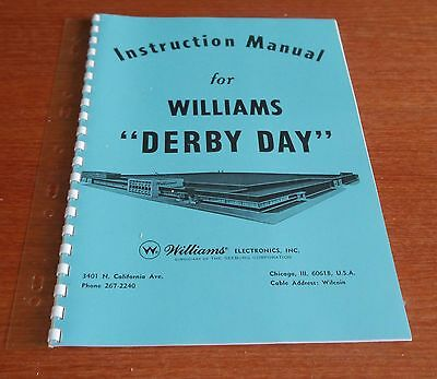 Williams Derby Day instruction Manual