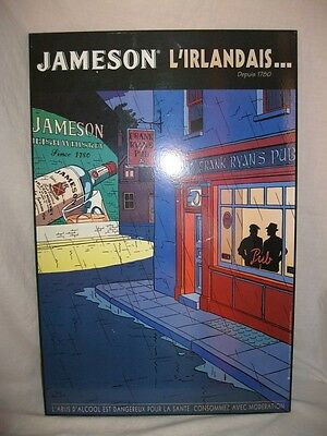 PLAQUE IRISH WHISKEY JAMESON L'IRLANDAIS... TED BENOIT BLAKE & MORTIMER 60x40cm