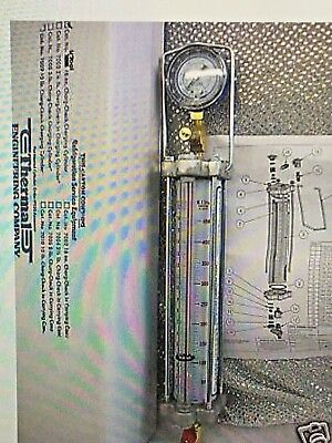 Thermal Engineering, Refrigerant Charging Cylinder w/Gauge, R12/R22, 16oz. 450g
