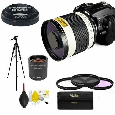 Opteka F/6.3 Sports Action Telephoto Zoom Lens 500-1000Mm For Nikon D5000 D3400