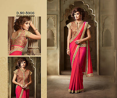 Bollywood Designer Wedding Wear Ethnic Georgette Net Sari Lehenga Choli Saree