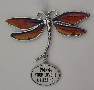 w Nana your love is a blessing DELIGHTFUL DRAGONFLY ORNAMENT CAR CHARM Ganz
