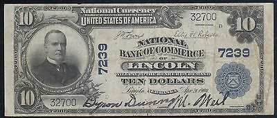 Genuine Series 1902 Lincoln NE $10 National Bank Note