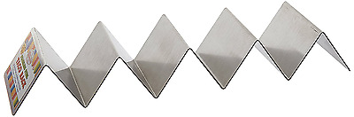 Taco Shell Holder Tortilla Stand Rack Stainless Steel Tray Holds 4-5 Tacos