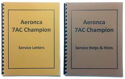 Aeronca 7AC Service Letters and Helps Hints Combo Manuals (Reprint)
