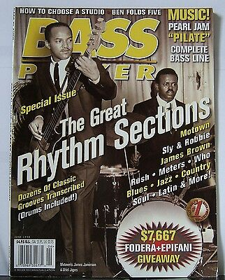 BASS PLAYER Magazine June 1998 Vol.9 #6 - The Great Rhythm Sections.