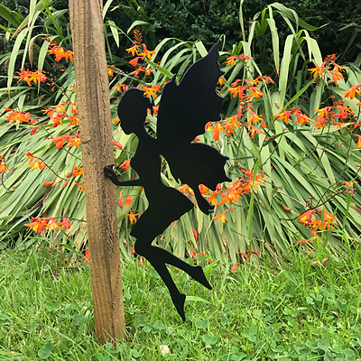 Fairy Metal Fence Post Topper Garden Ornament Fairies Gift
