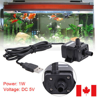 USB Submersible Water Pump DC 5V 3W for Aquarium Fish Tank Fountain Pond CA