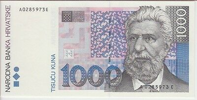 Croatia Banknote P35 1000 1,000 1.000 Kuna 1993, Uncirculated