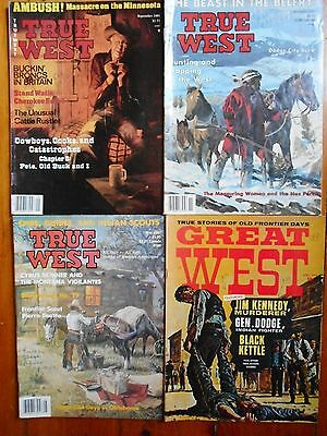 "Lot Of Vintage ""true West"" & ""great West"" Magazines"