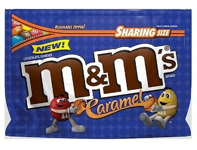 M&M's Caramel Chocolate Candy Sharing Size 9.6 oz Resealable Bag Exp. 5/2018