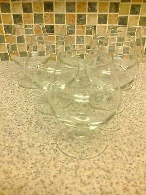 stamped france 6 x brandy glasses