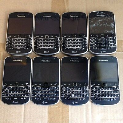 Lot Of 8 BlackBerry Bold 9900 - 8GB Black (AT&T) Touchscreen Smartphone Untested
