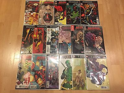 NEW Marvel Comics Deadpool 1(variant)-34 Huge 17 Issue Set/Run Lot 2016/2017!