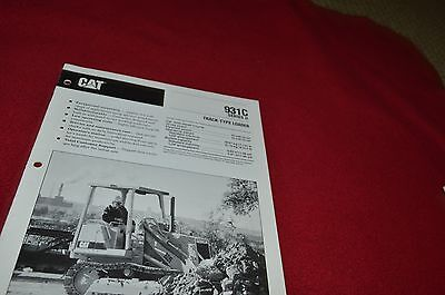Caterpillar 931C Series II Track Crawler Loader Dealer's Brochure DCPA8