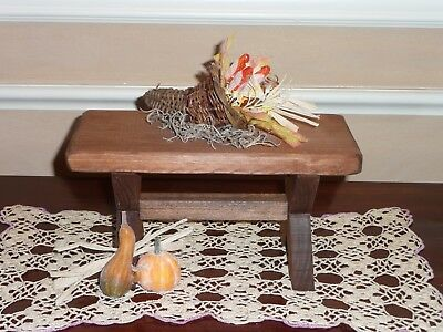 FALL HARVEST THANKSGIVING TABLE ACCESSORY FOR BYERS CHOICE ~Terrific w/carolers