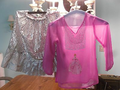 Vtg Little Girl's Starring Me Sparkly Skirt & Pink Cinderella Blouse