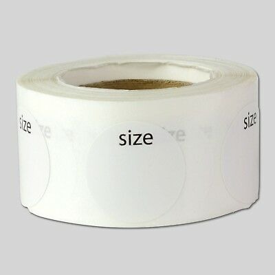 Clothing Size Labels Round Self Adhesive Stickers for Retail Apparel T Shirts...