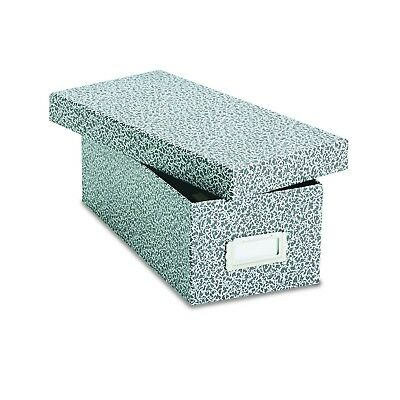 """Oxford Reinforced Board 3"""" x 5"""" Index Card Storage Box with Lift-Off Cover Bl..."""