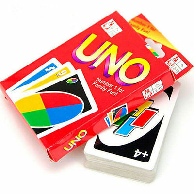Standard 108 UNO Playing Cards Game For Family Friend Travel Instruction Fun Toy