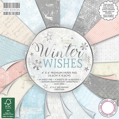 First Edition Winter Wishes 6x6 64 Sheet Paper Pad FEPAD163X17