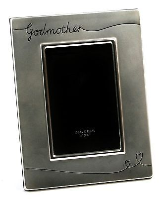 "Two Tone Silver Plated Godmother 4"" x 6"" Photo Frame by Haysom Interiors"
