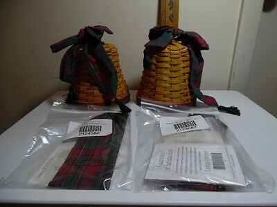 Longaberger Noel Bell Baskets and Bow Sets w/ extra bows