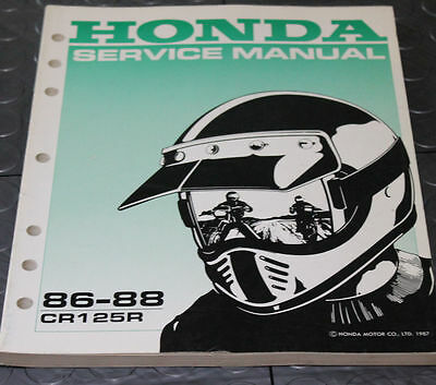 NOS OEM Honda Service Shop Manual NEW 86-88 CR125R CR 125 R