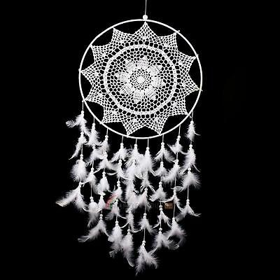 36.6'' Handmade Wall Hanging Decorations Dream Catcher with White Feathers Large