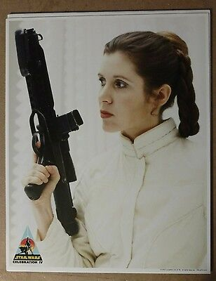 Star Wars Princess Leia Carrie Fisher unsigned 8x10 Official Pix OPX signed