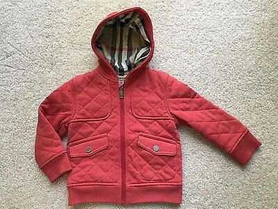 AUTHENTIC Burberry Boys Hooded Jacket Size 2Y