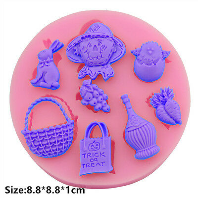 Easter Fruits Silicone Cake Mould Fondant Sugar Craft Chocolate Decorating Tools
