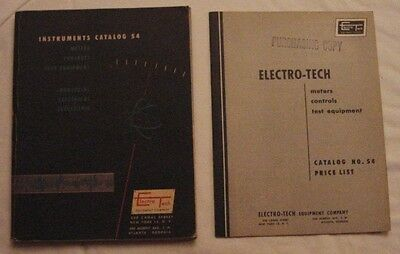 Electro -Tech Instrument Catalog & Price List- Dated 1954