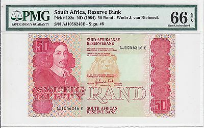 South Africa, ND (1984) 50 Rand P122a PMG 66 EPQ