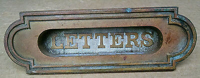 Antique Bronze Letter Slot W/movebale Flap Ca. 1900