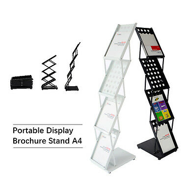 New Premium Portable A4 Brochure Holder / Literature Display Stand / Catalogues