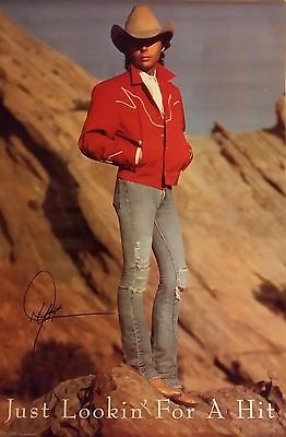 DWIGHT YOAKAM  JUST LOOKIN' FOR A HIT 1989 POSTER Rare Vintage Original Sealed