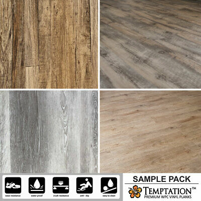 7mm WPC Vinyl Flooring Plank Sample Pack - Hard wearing and Waterproof Easy DIY