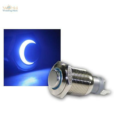Stainless Steel Pressure Button, Switch, Bell LED Illuminated Blue