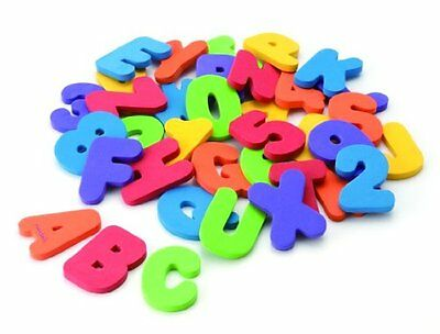 Alphabet Bath Toys Floating Alphabet Letters and Numbers Foam Munchkin 36 Count