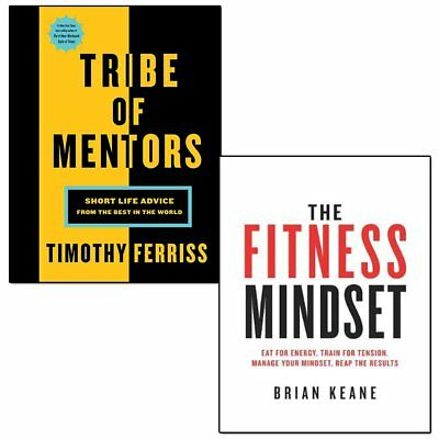 Tribe of Mentors 2 Books Collection Set The Fitness Mindset,Short Life Advice UK