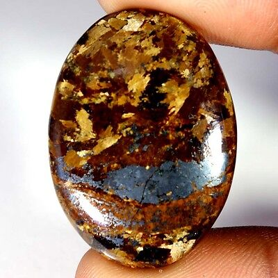 46.40Cts Designer A+ 100% Natural Bronzaite Oval Cab Loose Gemstone