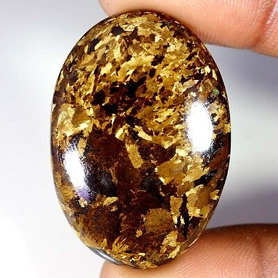61.90Cts Designer A+ 100% Natural Bronzaite Oval Cab Loose Gemstone