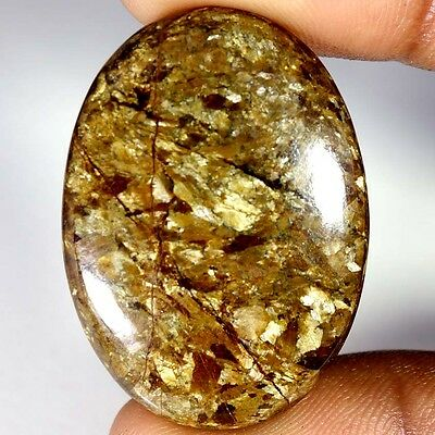 43.80Cts Designer A+ 100% Natural Bronzaite Oval Cab Loose Gemstone